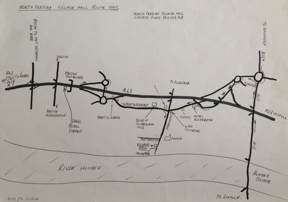 Map to North Ferriby Flower Club